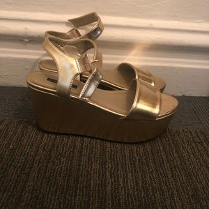 Forever 21 Gold Wedges